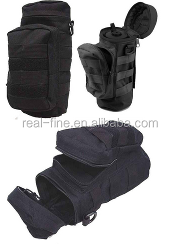 New Tactical Airsoft Camping Hiking Water Bottle Pouch Bag Holder Black waist pack