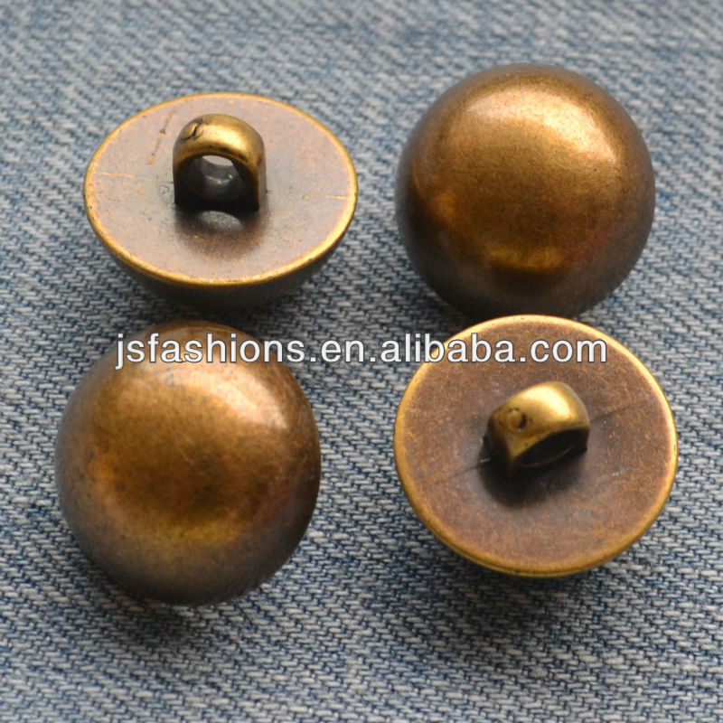fashion metal plated ABS sewing button in dome shape