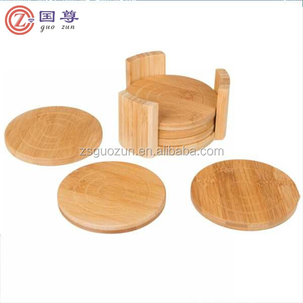Amazing Souvenir Drink Coasters Handmade Wood Coaster Set Of 4pcs Round Table  Coasters And Wooden Holder