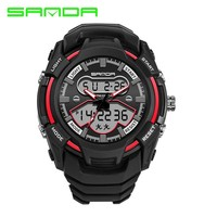 Sanda Sport Electronic Wrist Watches Men Military Digital Watch Shock Waterproof Shockproof Wristwatches Band Rubber LED Saat
