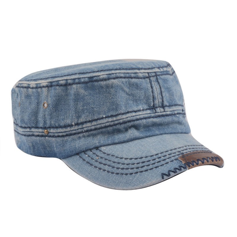 cool peaked officer cap hat names plain denim