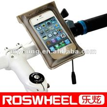 100% waterproof bicycle cell phone neck hanging bag