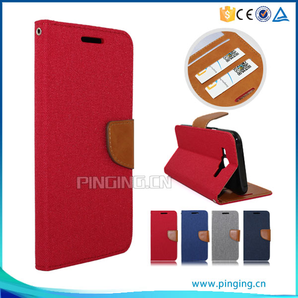 PU Leather flip with card slots case for OPPO F1 Plus , cover case for OPPO F1 Plus