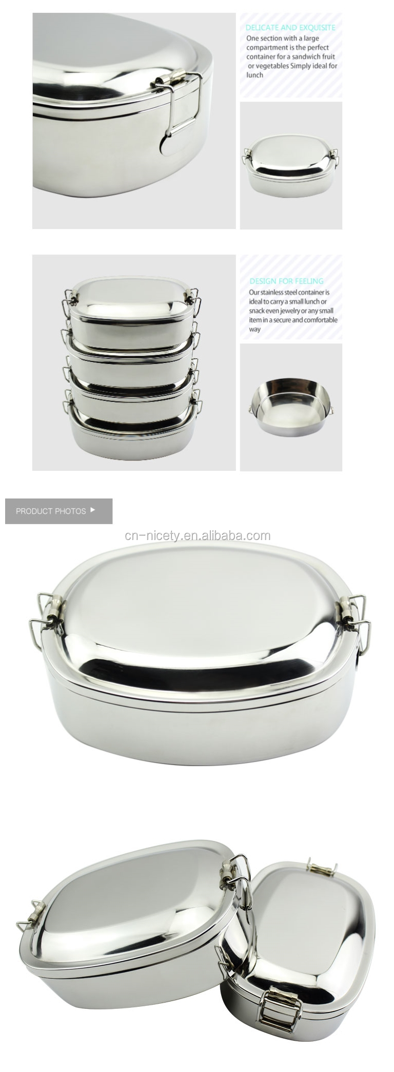 18/8 stainless steel lunchbox american style premium lunch box  sc 1 st  Alibaba & 18/8 Stainless Steel Lunchbox American Style Premium Lunch Box ... Aboutintivar.Com