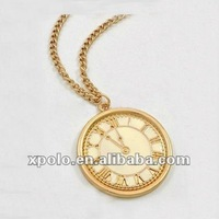Classi Yellow Gold Plated Round Bell Shape Pendant Necklace
