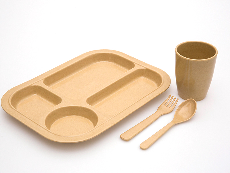 100% Ecological Biodegradable Bamboo Fiber Dish Tray Charger Plates