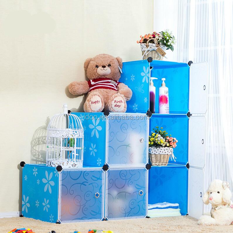 บ้านใช้กันอย่างแพร่หลายตู้เก็บ 8 Cube พลาสติก
