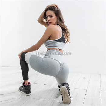 1cc6660c4 yoga clothing sets 2 pieces bra and pants dry fit yoga wear hot sexy school  girl