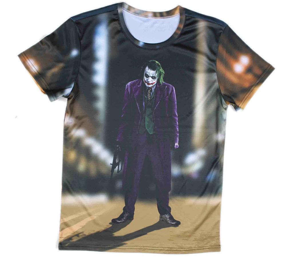 c9b7a431f Get Quotations · O-neck batman dark knight the joker t shirt men 3d print