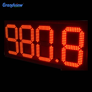 white gas station led price billboard petrol led lights signs remote control digital LED screen
