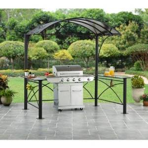 Arched Hard Top Grill Gazebo Kit Outdoor Patio Furniture Barbecue Shelter