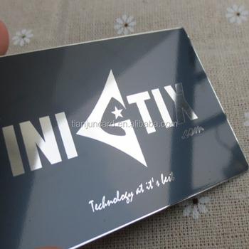 black metal business cards