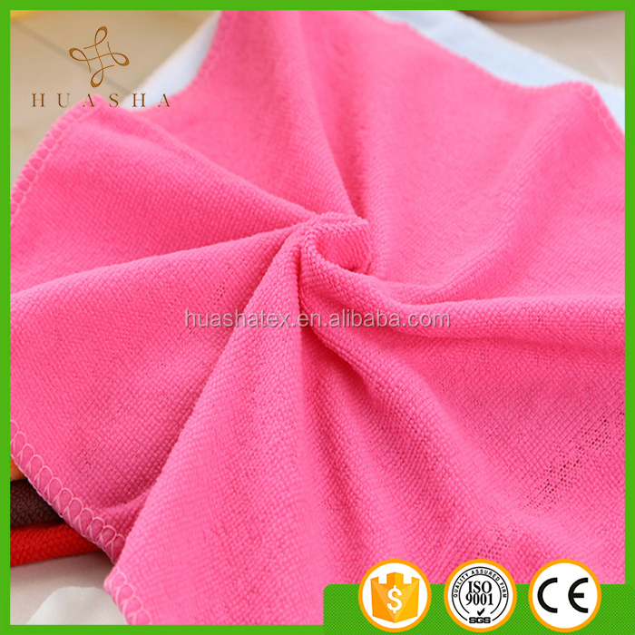 Hangzhou Supplier Direct Sales Good Quality Solid Color Plain Edge Cleaning Towel Microfiber