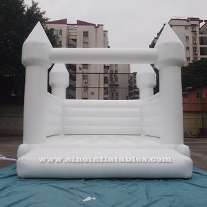5x4m commercial grade adults wedding white bouncy castle for outdoor wedding parties or events