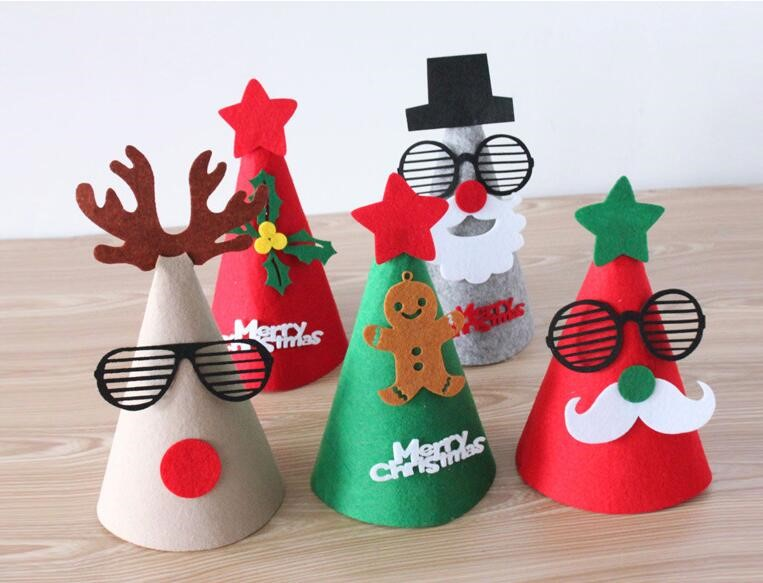 8afd4ffcd5633 2018 new products amazon hot selling china supplier photos sxi Christmas  decoration lovely knitted baby felt Christmas hats