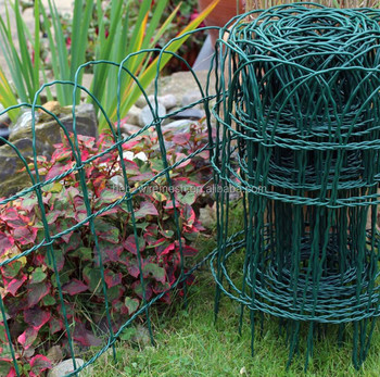 Scroll Top Decorative Woven Border Wire Mesh Fence For Garden - Buy ...