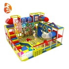 Factory Price 6.5m*7.5m*4.5m Size Safety Funny Small Ball Pool Children Plastic Slide Indoor Playground Equipment Toys
