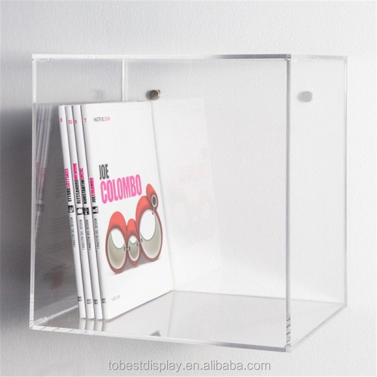 Clear Acrylic Plastic Wall Cube Shelves,Squre Box,Books Display ...