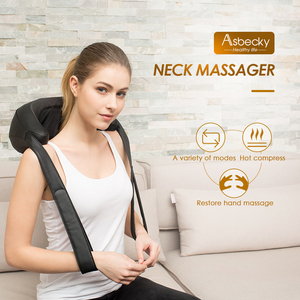 New style -Handheld neck back messager with heat emulate human hand massage utilize Chinese medicine massage method