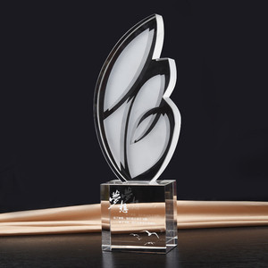 wing shape crystal acrylic design ideas trophy