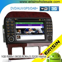 "Erisin ES4509S 7 ""Android 5.1 Car Thanh Âm Thanh <span class=keywords><strong>DVD</strong></span> GPS Navigation DVR USB DAB + cho Mercedes CL-Class W215"