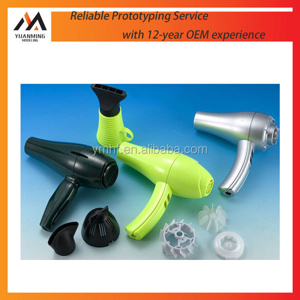 manufacturing customized Molded new hair dryer design and prototypes