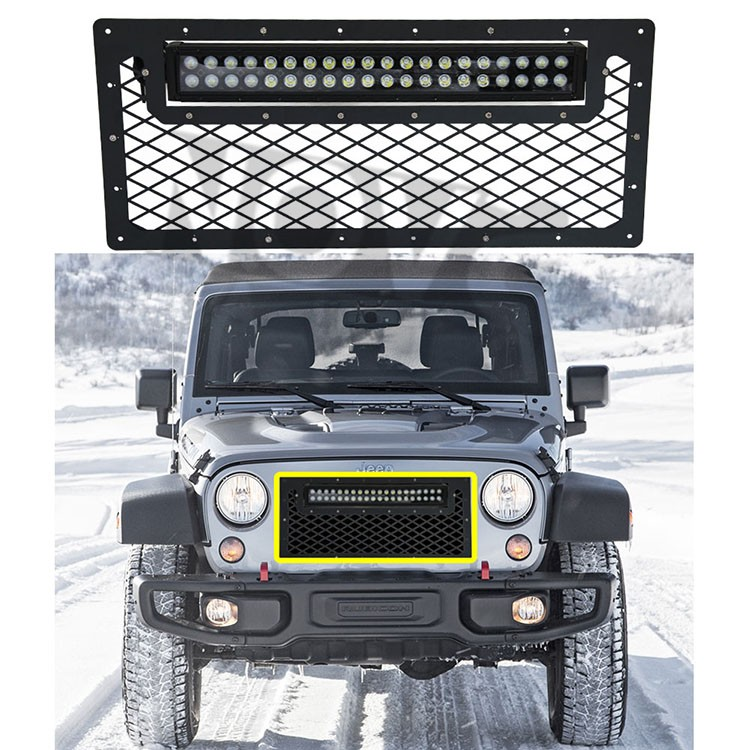 Car Parts Jeep Spare Parts Jeep Wrangler JK Front Bumper With Led Light