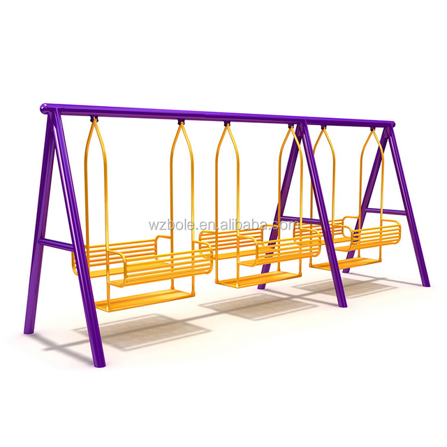 High Quality Galvanized Steel Tubes Swing Set Safety Swing Chair Both For Children And Adults Outdoor Amusement