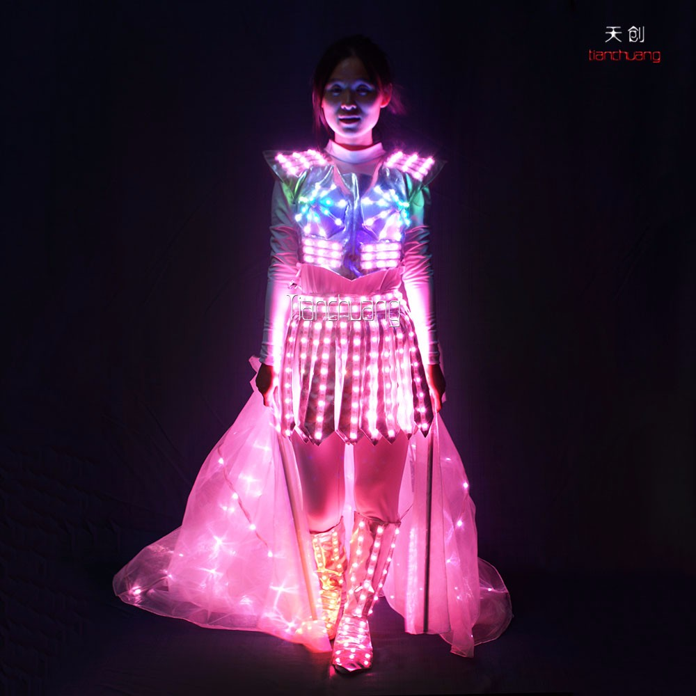 Stage Performance Full Color Led Magic Fairy Outfit