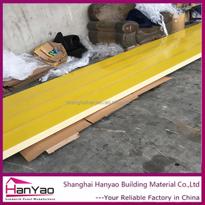 HanYao Yellow PU Polyurethane Rockwool Sandwich Panel for Roof and Wall