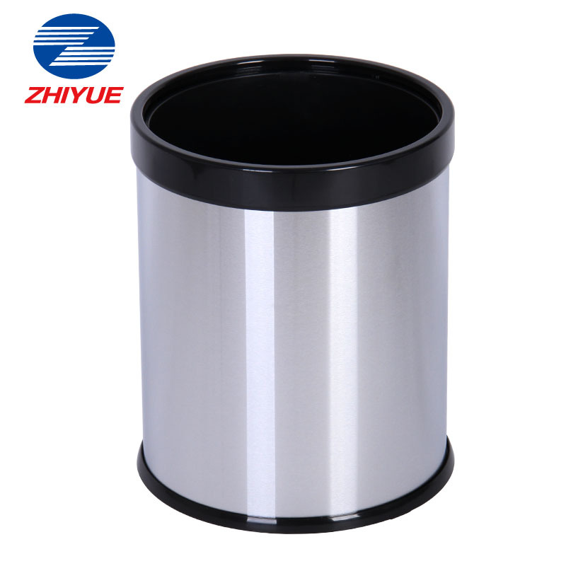 zhi yue zhiyue thick stainless steel trash can lid without bathroom kitchen household trash. Black Bedroom Furniture Sets. Home Design Ideas