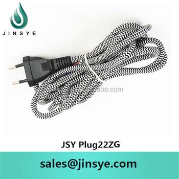 Schwarz Und Weiß Zig Zag Textil Elektrische Kabel Arten Baumwolle Cord  Netzkabel Draht