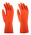 CE safety rubber household hand gloves kitchen clearning with flock line latex