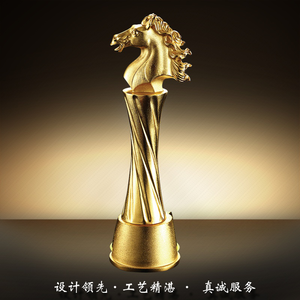 Gold Metal Large Size Trophy Award Cup , metal replica oscar trophy awards