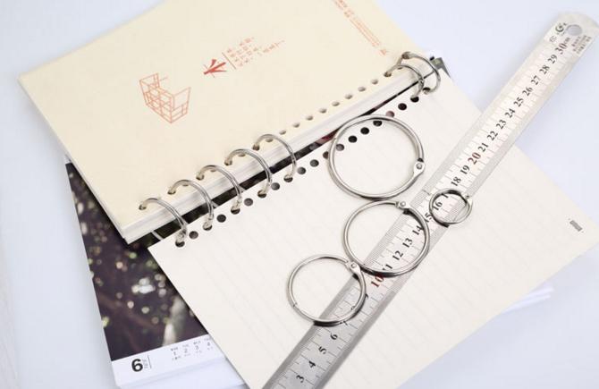 Metal Loose Leaf Book Binder Hinged Rings Keychain Diy Album Scrapbook  Clips Metal Binder Ring Desk Calendar Circle - Buy Scrapbook Clips Metal