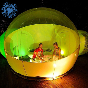 Outdoor Transparent And White Inflatable Crystal Bubble Tent House Dome With 2 Tunnels