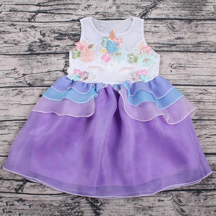 Baby Boutique Party Fancy Girls Unicorn Dress - Buy Unicorn Dress ... 6a1b1e49ac