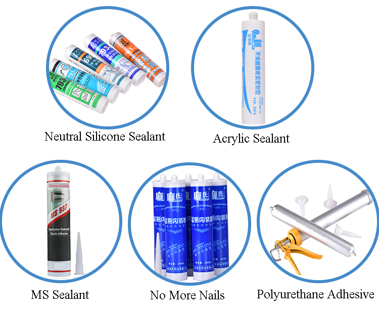 Strength PU Adhesive Sealant For Glass