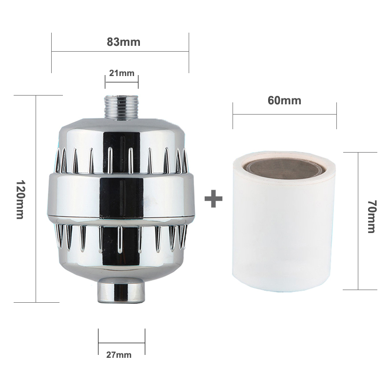 In-line bathroom Shower Filter bathing water filter  purifier water treatment Health softener Chlorine Removal For Kitchen Home (11)