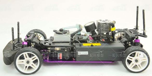 Bán xe điều khiển rc chạy bằng xăng nitro va Tay điều khiển TX, RX GT3B - 7