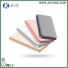 Latest Fashion Four colors match for iphone color Ultra Thin rohs power bank 10000mah