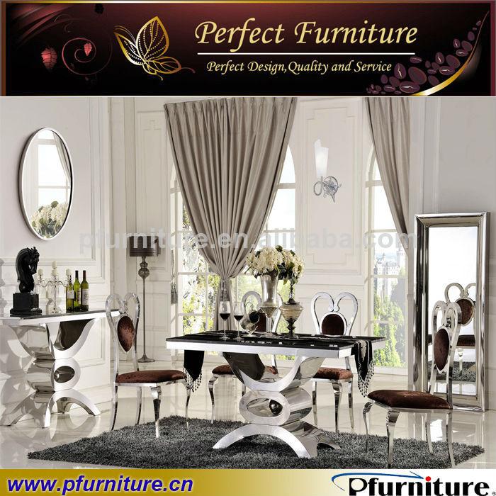 mobilier de salle à manger de luxe en métal de la console de table ...