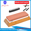 Kitchen Knife white corundum Sharpening Stone with bamboo and silicone holder and an angle guider