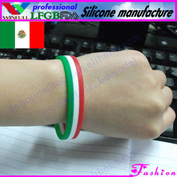 4c54329cae51 México Bandera Pulsera custom Bandera bandera Amistad (lfgb fda ...