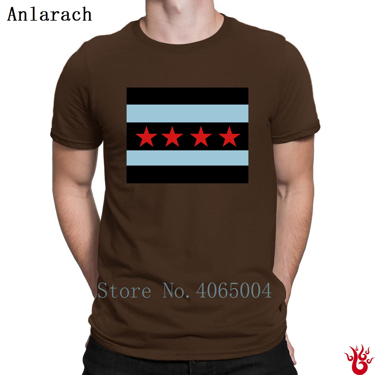 The Chicago Flag Tshirts Short Sleeve Fit Novelty S Xxxl Men T Shirt