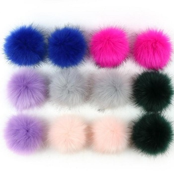 Mix Colorful Vegan Fur Balls Faux Fur Imitate Fox Hair Pom Poms