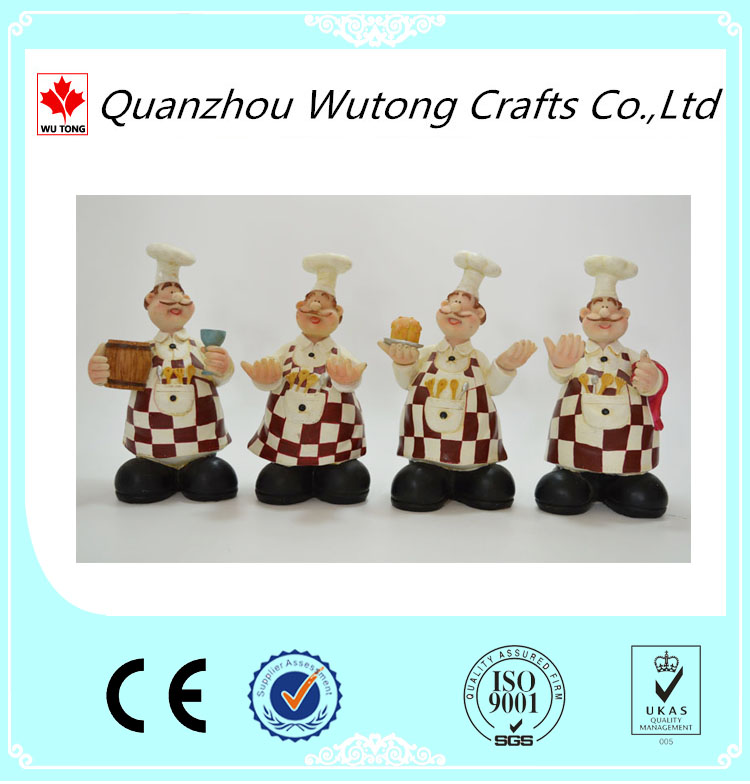 Wholesale price kitchen chefs figurines statues,resin chef figurine
