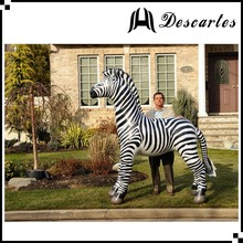 Lifelike PVC large inflatable horse animals/giant inflatable replica zebra for sale