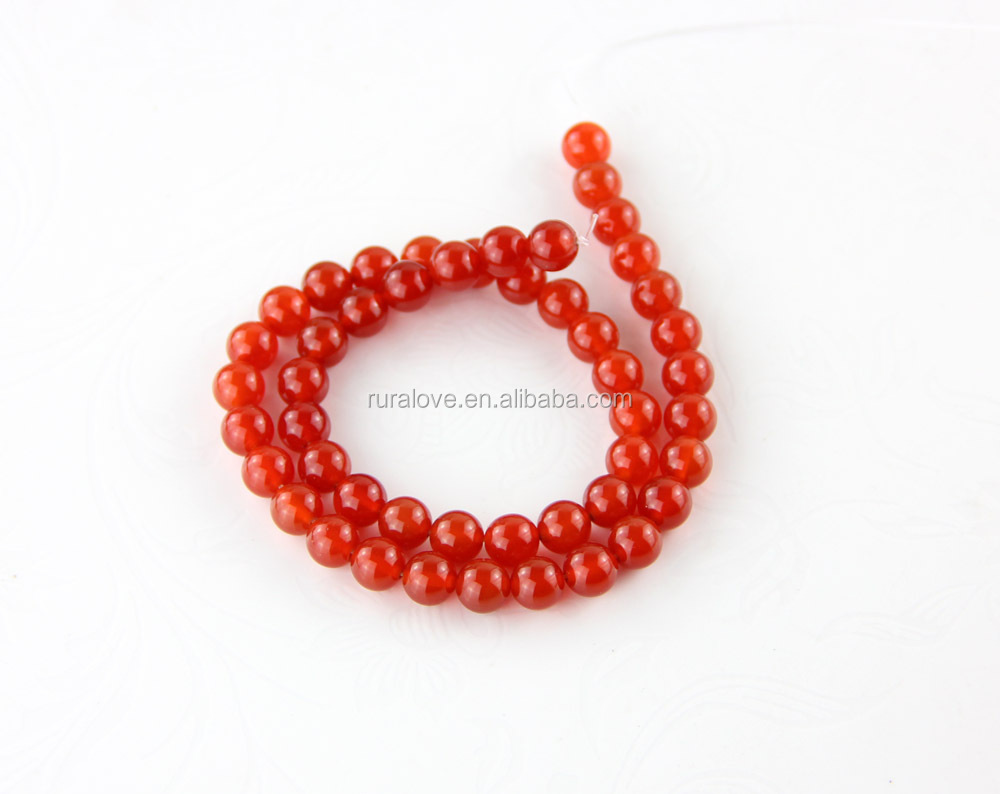High quality round red agate gemstone beads