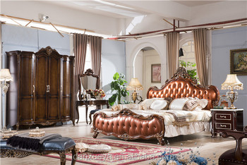French Rococo Palace Furniture Clic Hand Carved High Quality Bedroom Set Royal